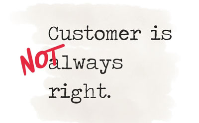 Customer is not always right2x